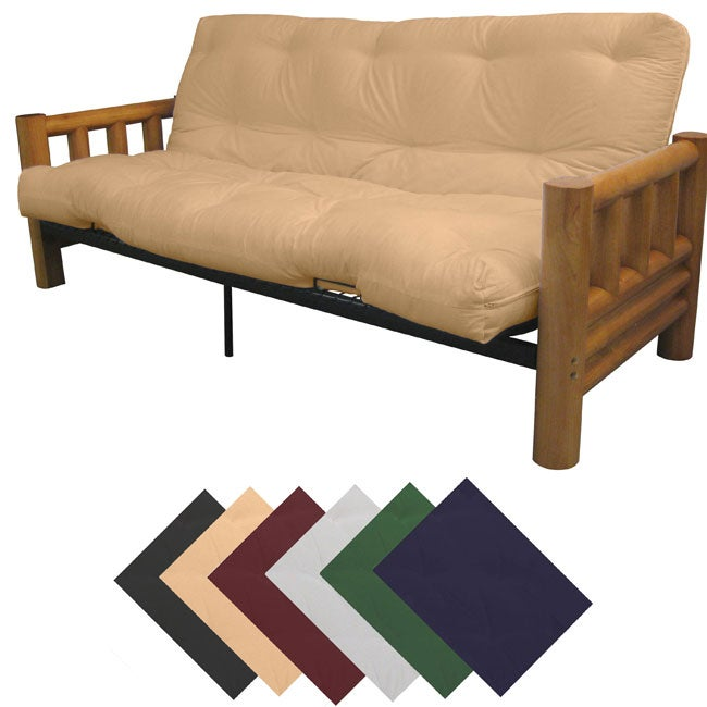 Yosemite Full Rustic Lodge Frame/ Premier Mattress Futon Set