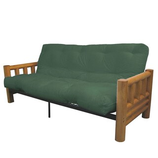 Yosemite Queen-size Rustic Lodge Frame with Inner Spring Futon Mattress Set (More options available)