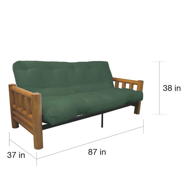 Yosemite Queensize Rustic Lodge Frame with Inner Spring Futon