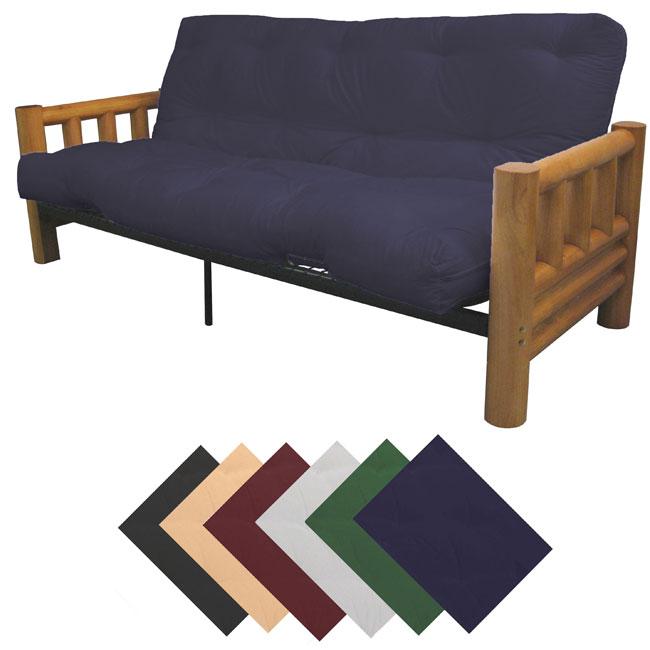 Yosemite Queen-size Rustic Lodge Frame with Cotton/Foam Mattress Futon Set - Queen Size Futon Sets Roselawnlutheran