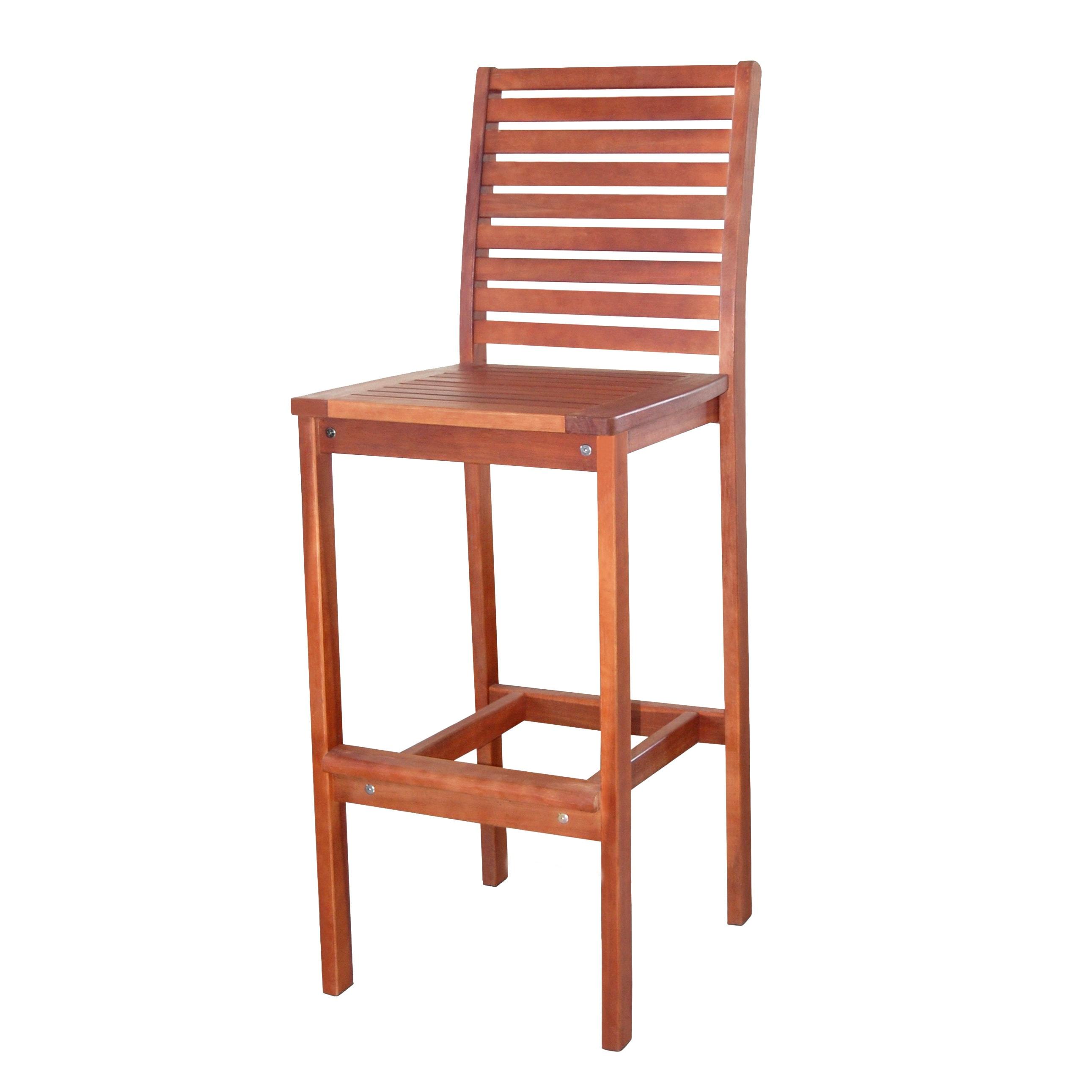 Shop Dartmoor Plantation Grown Teak Wood Bar Chair Free
