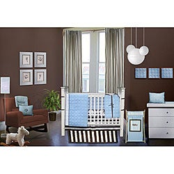 Bacati Quilted Circles 10-piece Crib Bedding Set