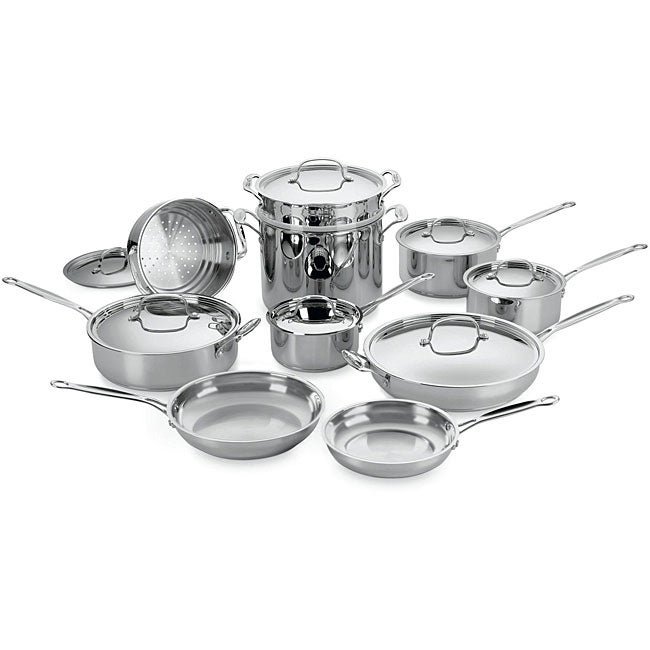 Cuisinart Chef's Classic Stainless Steel 17-piece Cookware Set - Thumbnail 0