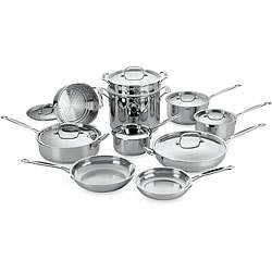 Cuisinart Chef S Classic Stainless Steel 17 Piece Cookware