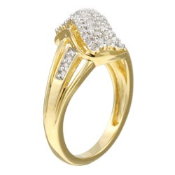Unending Love Sterling Silver/ 14k Gold Vermeil 1/4ct TDW Diamond Ring (K-L, I1-I2)