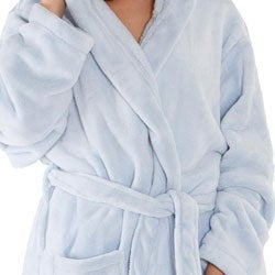Women's 14-ounce Fleece Hooded Robe - Thumbnail 1