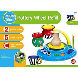 NSI Imagine Nation Pottery Wheel Non-toxic Clay and Paint Refill Kit