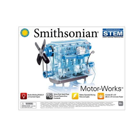The Smithsonian Motor Works Model Engine - Blue/Clear