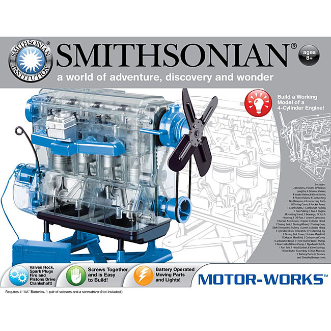 the smithsonian motor works model engine free shipping