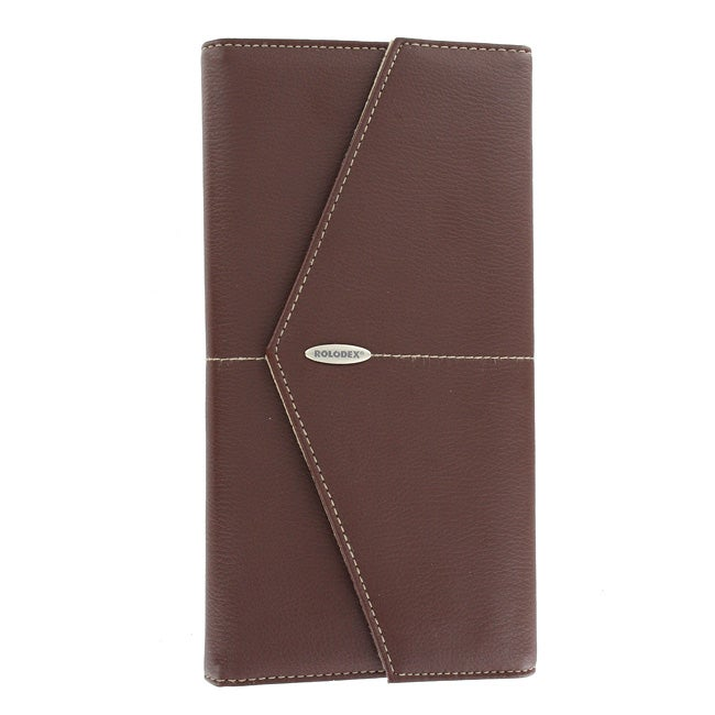 Rolodex 96-card Brown Business Card Holder