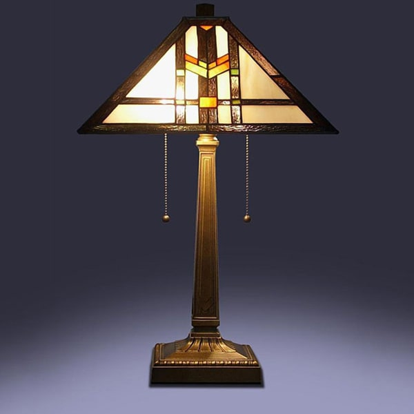 Exceptionnel Tiffany Style Mission Table Lamp
