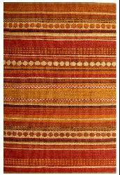 Hand-woven Sindhi Rust Jute Rug (5' x 8') - Thumbnail 2