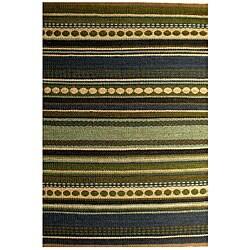Hand-woven Sindhi Blue Jute Rug (4' x 6')