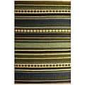 Hand-woven Sindhi Blue Jute Rug (4' x 6') - Multi - 4' x 6'