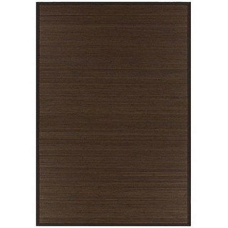 Hand-woven Rayon from Bamboo Brown Rug (8' x 10')