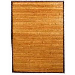 Hand-woven Yellow Bamboo/ Rayon from Bamboo Rug (8' x 10')