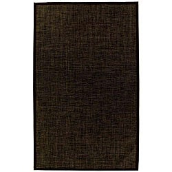 PVC Outdoor Black/ Brown Rug (6' x 9') - Thumbnail 0