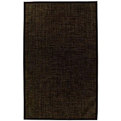 PVC Outdoor Black/ Brown Rug - 6' x 9'