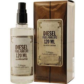 Diesel Fuel for Life Men's 4-ounce Eau de Toilette Spray