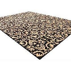 Hand-tufted Black Wool Marla Rug (8' x 10') - Thumbnail 1