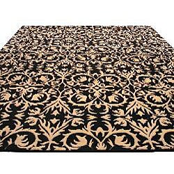 Hand-tufted Black Wool Marla Rug (8' x 10') - Thumbnail 2