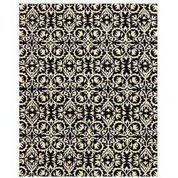 Hand-tufted Black Wool Marla Rug (8' x 10')