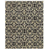 Hand-tufted Black Wool Marla Rug (8' x 10') - 8' x 10'