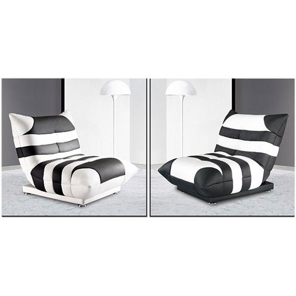 Furniture of America Noir Cosmo Contemporary Pouched-style Chair Bed