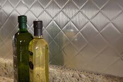 Fasade Brushed Aluminum Backsplash Panels (Set of 4) - Thumbnail 1