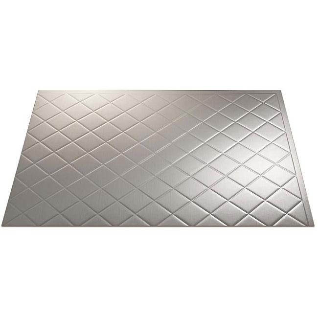 Fasade Brushed Aluminum Backsplash Panels (Set of 4)
