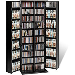 Broadway Black Large Deluxe CD/ DVD Media Storage