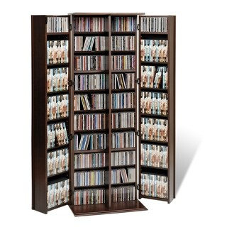 Everett Espresso Large Deluxe CD/ DVD Media Storage