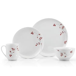 Mikasa Basic 16-piece Red Berries Dinnerware Set