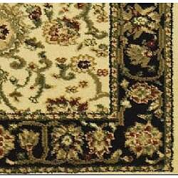 Safavieh Lyndhurst Traditional Oriental Ivory/ Black Runner (2'3 x 12')