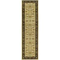 "Safavieh Lyndhurst Traditional Oriental Ivory/ Black Runner Rug - 2'3"" x 14'"