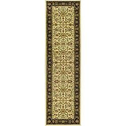 Safavieh Lyndhurst Traditional Oriental Ivory/ Black Runner (2'3 x 16')