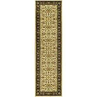 "Safavieh Lyndhurst Traditional Oriental Ivory/ Black Runner (2'3 x 16') - 2'3"" x 16'"