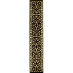 Safavieh Lyndhurst Traditional Oriental Black/ Ivory Runner (2'3 x 16')