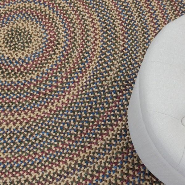 Monticello Indoor Outdoor Multicolor Braided Rug 6 X27