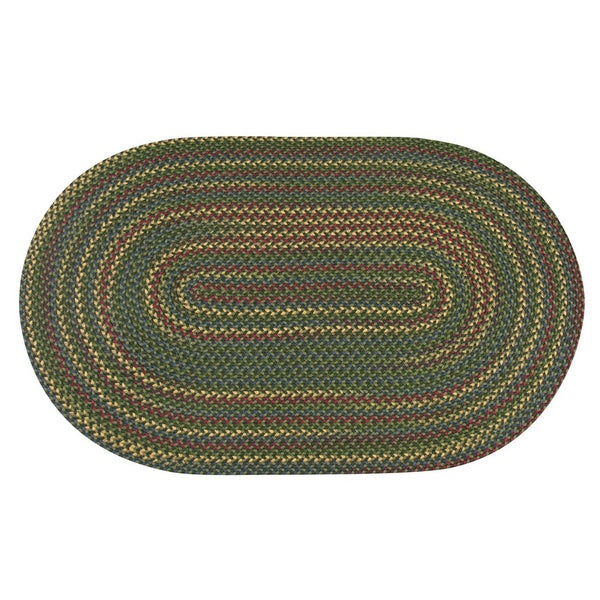 Monticello Indoor / Outdoor Braided Oval Rug (5'6 x 8'6)