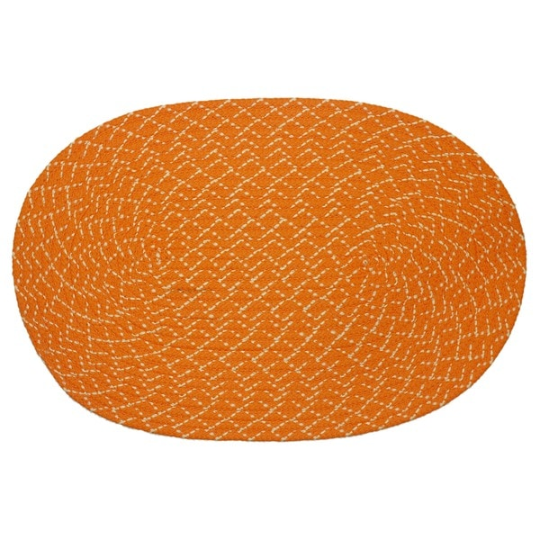 Sun Splash Indoor/ Outdoor Orange Braided Rug (3'6 x 5'6)
