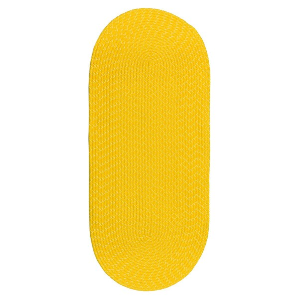 Sun Splash Indoor/ Outdoor Colorful Yellow Braided Rug (2' x 5')