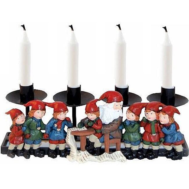 Santa with Children Candleholder