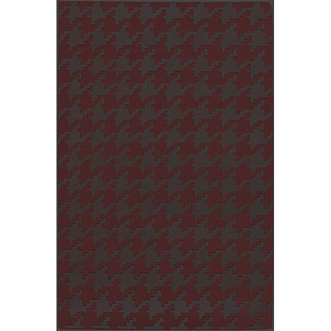 Hand-woven Camrose Wool Geometric Area Rug (8' x 11') - 8' x 11'