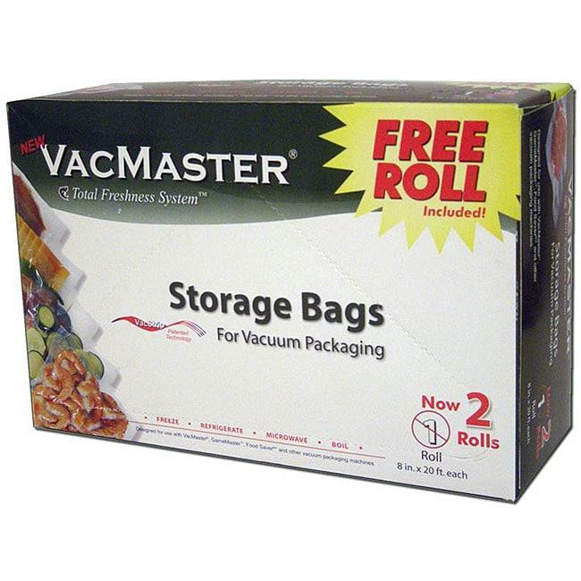 Vacmaster 8 Inch Vacuum Storage Bag Rolls Pack Of 2