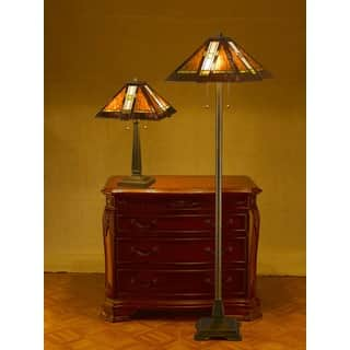 Tiffany-style Aztec Mission Lamps (Set of 2)|https://ak1.ostkcdn.com/images/products/4356440/P12326931.jpg?impolicy=medium