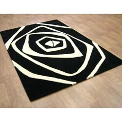 Alliyah Handmade Ivory New Zealand Blend Wool Rug (8' x 10') - Thumbnail 2