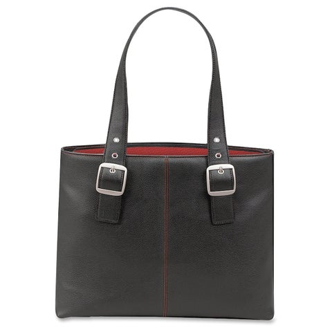 SOLO Classic 16-inch Laptop Tote w/Red Interior Lining