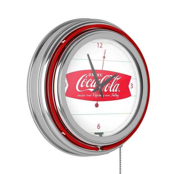 Coca Cola Logo 14-inch Double Ring Neon Clock. Opens flyout.