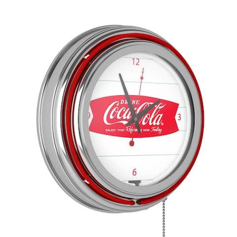 Coca Cola Logo 14-inch Double Ring Neon Clock